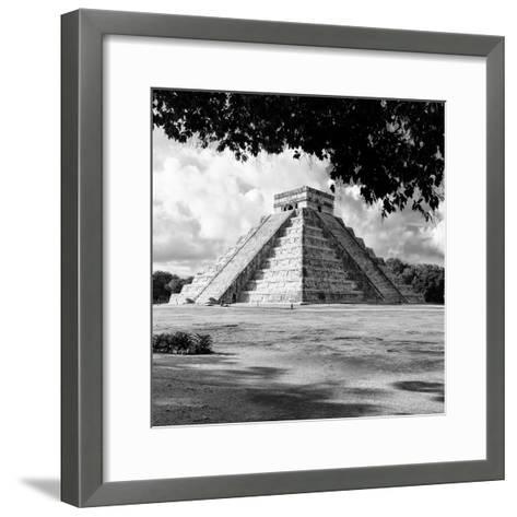 ¡Viva Mexico! Square Collection - El Castillo Pyramid - Chichen Itza I-Philippe Hugonnard-Framed Art Print