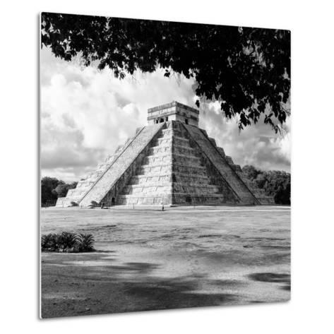 ¡Viva Mexico! Square Collection - El Castillo Pyramid - Chichen Itza I-Philippe Hugonnard-Metal Print