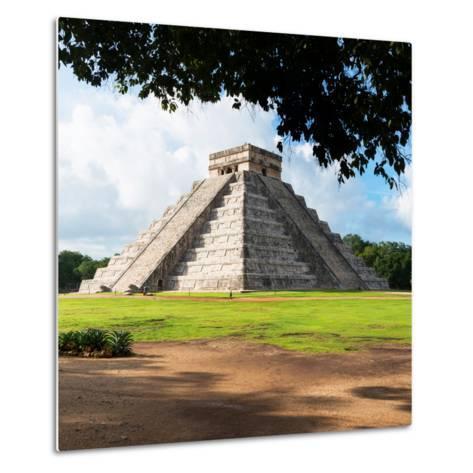 ¡Viva Mexico! Square Collection - El Castillo Pyramid in Chichen Itza IX-Philippe Hugonnard-Metal Print