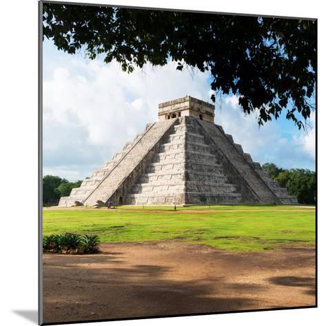 ¡Viva Mexico! Square Collection - El Castillo Pyramid in Chichen Itza IX-Philippe Hugonnard-Mounted Photographic Print