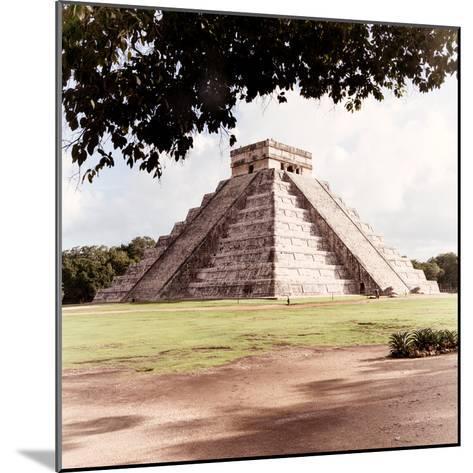 ¡Viva Mexico! Square Collection - El Castillo Pyramid - Chichen Itza II-Philippe Hugonnard-Mounted Photographic Print