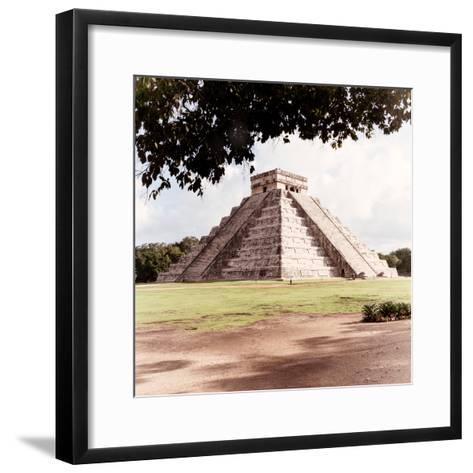 ¡Viva Mexico! Square Collection - El Castillo Pyramid - Chichen Itza II-Philippe Hugonnard-Framed Art Print