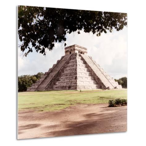 ¡Viva Mexico! Square Collection - El Castillo Pyramid - Chichen Itza II-Philippe Hugonnard-Metal Print