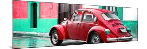 ¡Viva Mexico! Panoramic Collection - VW Beetle and Red Wall-Philippe Hugonnard-Mounted Photographic Print