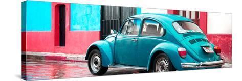 ¡Viva Mexico! Panoramic Collection - VW Beetle and Turquoise Wall-Philippe Hugonnard-Stretched Canvas Print