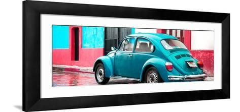 ¡Viva Mexico! Panoramic Collection - VW Beetle and Turquoise Wall-Philippe Hugonnard-Framed Art Print