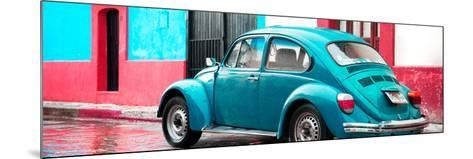 ¡Viva Mexico! Panoramic Collection - VW Beetle and Turquoise Wall-Philippe Hugonnard-Mounted Photographic Print