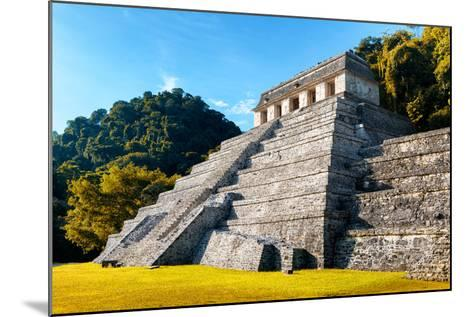 ?Viva Mexico! Collection - Mayan Temple of Inscriptions with Fall Colors - Palenque-Philippe Hugonnard-Mounted Photographic Print