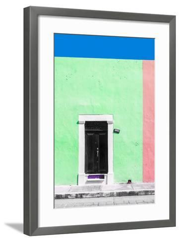 ?Viva Mexico! Collection - 124 Street Campeche - Green & Hot Pink Wall-Philippe Hugonnard-Framed Art Print