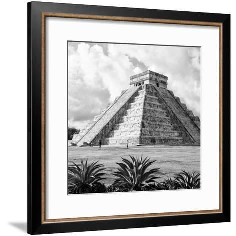 ¡Viva Mexico! Square Collection - El Castillo Pyramid - Chichen Itza VII-Philippe Hugonnard-Framed Art Print