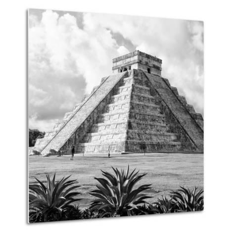 ¡Viva Mexico! Square Collection - El Castillo Pyramid - Chichen Itza VII-Philippe Hugonnard-Metal Print
