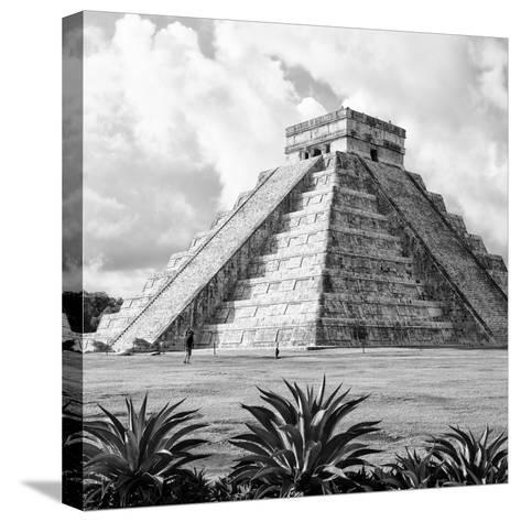 ¡Viva Mexico! Square Collection - El Castillo Pyramid - Chichen Itza VII-Philippe Hugonnard-Stretched Canvas Print
