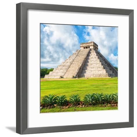 ?Viva Mexico! Square Collection - El Castillo Pyramid - Chichen Itza VIII-Philippe Hugonnard-Framed Art Print