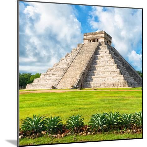 ?Viva Mexico! Square Collection - El Castillo Pyramid - Chichen Itza VIII-Philippe Hugonnard-Mounted Photographic Print