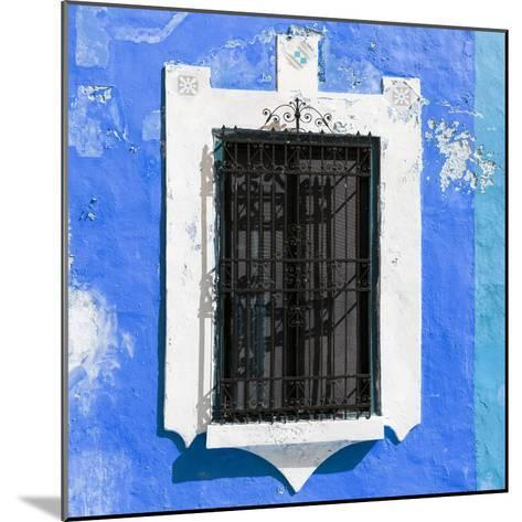 ¡Viva Mexico! Square Collection - Blue Wall & Black Window-Philippe Hugonnard-Mounted Photographic Print