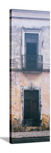 ¡Viva Mexico! Panoramic Collection - Old Mexican Facade IV-Philippe Hugonnard-Stretched Canvas Print