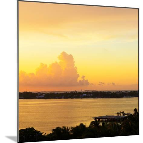?Viva Mexico! Square Collection - Sunset over Cancun-Philippe Hugonnard-Mounted Photographic Print