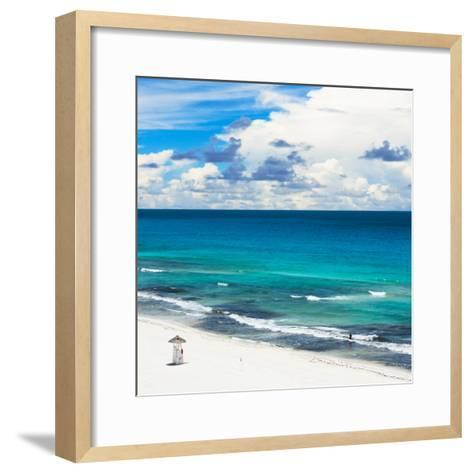 ¡Viva Mexico! Square Collection - Ocean and Beach View - Cancun-Philippe Hugonnard-Framed Art Print