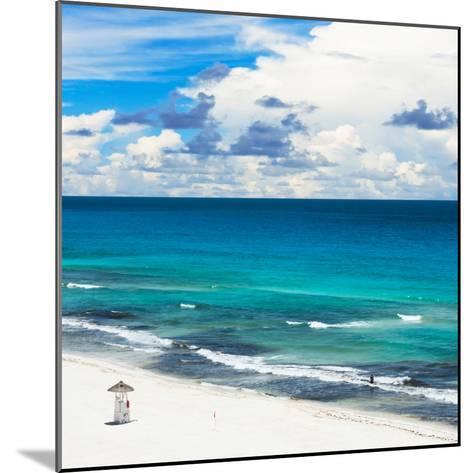 ¡Viva Mexico! Square Collection - Ocean and Beach View - Cancun-Philippe Hugonnard-Mounted Photographic Print