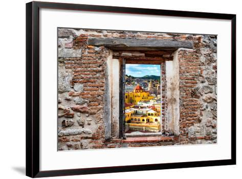 ?Viva Mexico! Window View - Church Domes in Guanajuato-Philippe Hugonnard-Framed Art Print