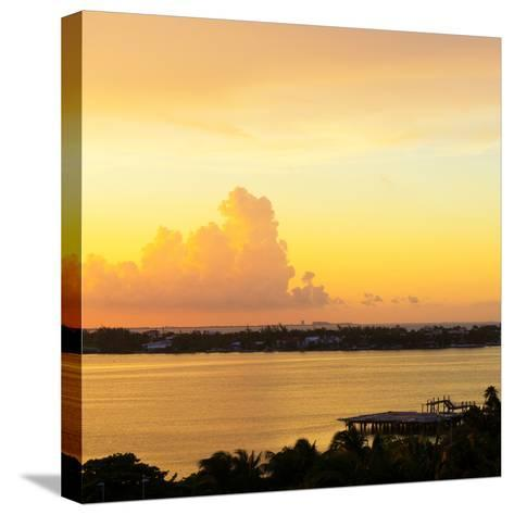 ?Viva Mexico! Square Collection - Sunset over Cancun-Philippe Hugonnard-Stretched Canvas Print