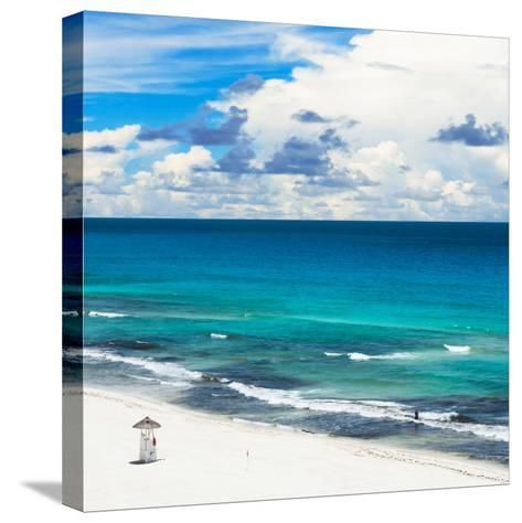 ¡Viva Mexico! Square Collection - Ocean and Beach View - Cancun-Philippe Hugonnard-Stretched Canvas Print