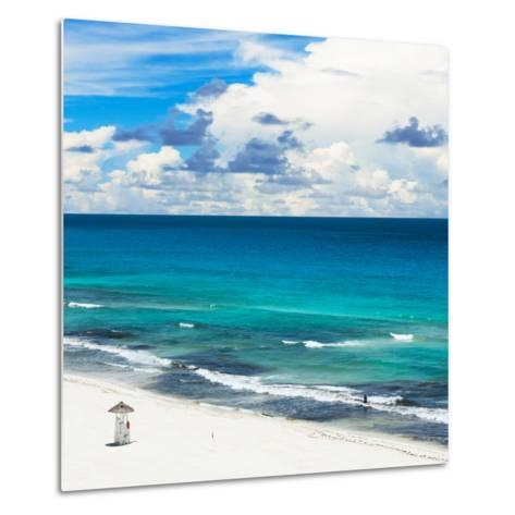 ¡Viva Mexico! Square Collection - Ocean and Beach View - Cancun-Philippe Hugonnard-Metal Print