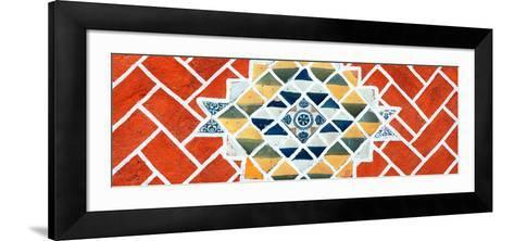 ¡Viva Mexico! Panoramic Collection - Red Mosaics-Philippe Hugonnard-Framed Art Print