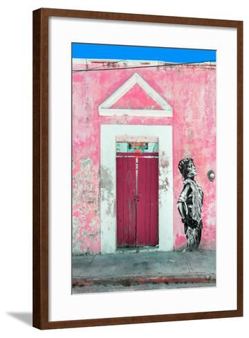 ¡Viva Mexico! Collection - Main entrance Door Closed IX-Philippe Hugonnard-Framed Art Print