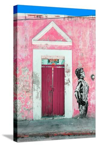 ¡Viva Mexico! Collection - Main entrance Door Closed IX-Philippe Hugonnard-Stretched Canvas Print