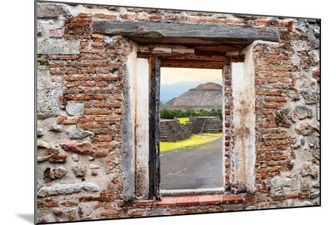 ¡Viva Mexico! Window View - Teotihuacan Pyramids-Philippe Hugonnard-Mounted Photographic Print