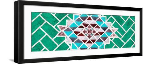 ¡Viva Mexico! Panoramic Collection - Green Mosaics-Philippe Hugonnard-Framed Art Print