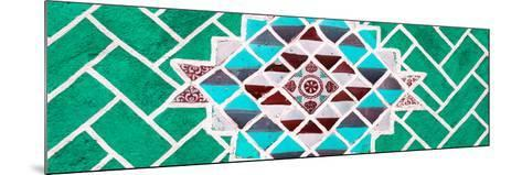¡Viva Mexico! Panoramic Collection - Green Mosaics-Philippe Hugonnard-Mounted Photographic Print