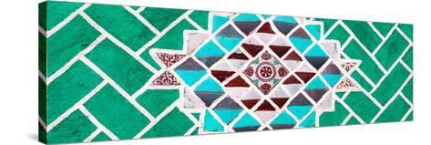 ¡Viva Mexico! Panoramic Collection - Green Mosaics-Philippe Hugonnard-Stretched Canvas Print