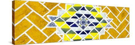 ¡Viva Mexico! Panoramic Collection - Yellow Mosaics-Philippe Hugonnard-Stretched Canvas Print