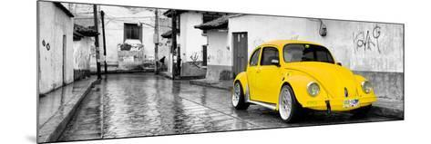 ¡Viva Mexico! Panoramic Collection - Yellow VW Beetle Car in San Cristobal de Las Casas-Philippe Hugonnard-Mounted Photographic Print