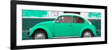 ¡Viva Mexico! Panoramic Collection - Green VW Beetle-Philippe Hugonnard-Framed Art Print