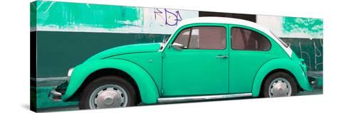 ¡Viva Mexico! Panoramic Collection - Green VW Beetle-Philippe Hugonnard-Stretched Canvas Print