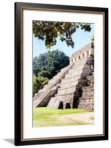 ¡Viva Mexico! Collection - Beautiful Temple of the Inscription - Palenque IV-Philippe Hugonnard-Framed Art Print