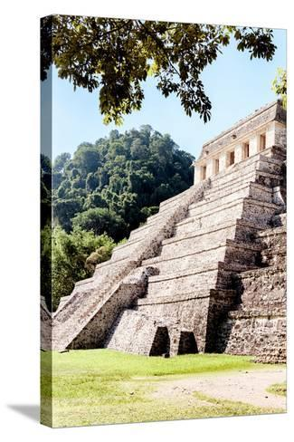 ¡Viva Mexico! Collection - Beautiful Temple of the Inscription - Palenque IV-Philippe Hugonnard-Stretched Canvas Print