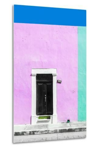 ¡Viva Mexico! Collection - 124 Street Campeche - Thistle & Coral Green Wall-Philippe Hugonnard-Metal Print