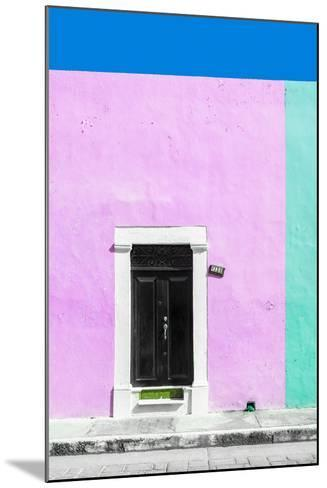 ¡Viva Mexico! Collection - 124 Street Campeche - Thistle & Coral Green Wall-Philippe Hugonnard-Mounted Photographic Print