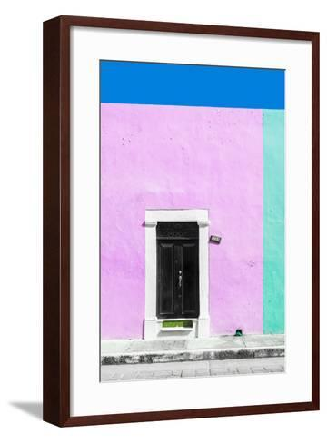 ¡Viva Mexico! Collection - 124 Street Campeche - Thistle & Coral Green Wall-Philippe Hugonnard-Framed Art Print