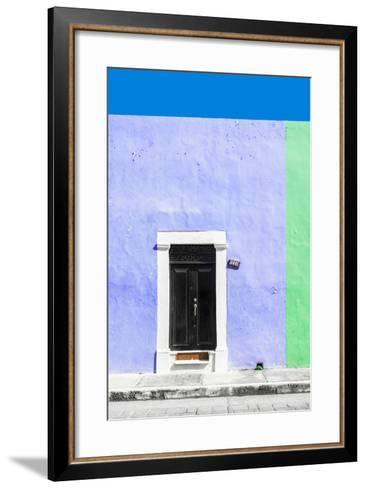 ¡Viva Mexico! Collection - 124 Street Campeche - Purple & Green Wall-Philippe Hugonnard-Framed Art Print