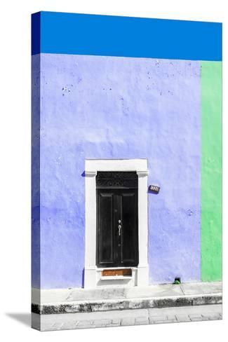 ¡Viva Mexico! Collection - 124 Street Campeche - Purple & Green Wall-Philippe Hugonnard-Stretched Canvas Print