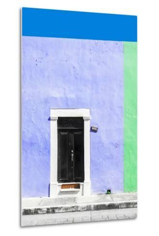 ¡Viva Mexico! Collection - 124 Street Campeche - Purple & Green Wall-Philippe Hugonnard-Metal Print