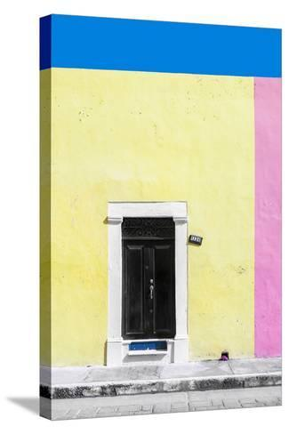 ?Viva Mexico! Collection - 124 Street Campeche - Yellow & Pink Wall-Philippe Hugonnard-Stretched Canvas Print