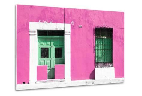 ¡Viva Mexico! Collection - 130 Street Campeche - Hot Pink Wall-Philippe Hugonnard-Metal Print