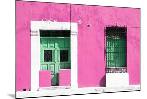 ¡Viva Mexico! Collection - 130 Street Campeche - Hot Pink Wall-Philippe Hugonnard-Mounted Photographic Print