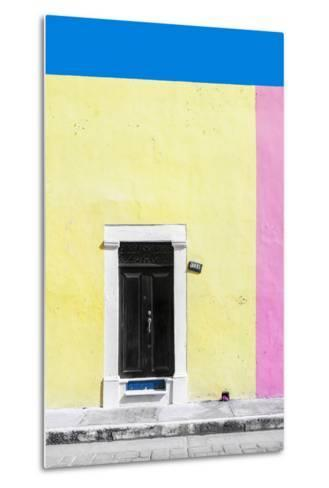 ?Viva Mexico! Collection - 124 Street Campeche - Yellow & Pink Wall-Philippe Hugonnard-Metal Print